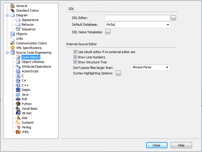 Define Foreign Key Name Template [EA User Guide]