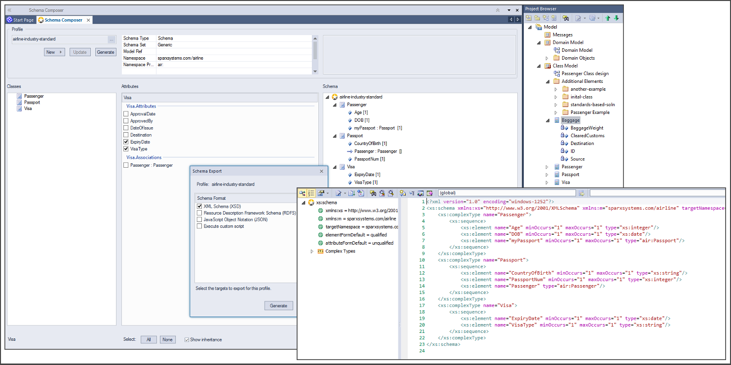 Schema engineering with enterprise architect sparx systems xml schema definition xsd ccuart Image collections
